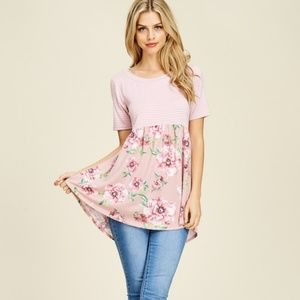Tops - *Sasha Floral Dusty Rose Top